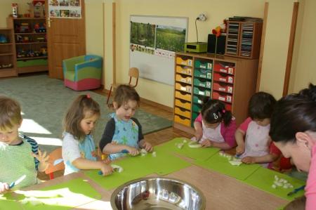 Zajęcia kulinarne w grupie 3 latków