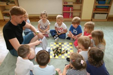 Konkurs szachowy w grupie 3 i 4  latków