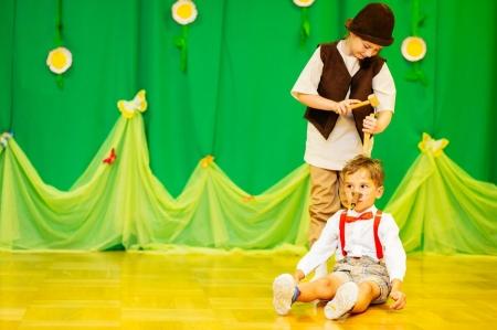 """Przedstawienie pt. """"Pinokio"""" w wykonaniu grupy 6- latków"""