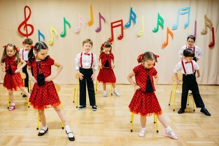 Pokaz taneczny w grupie 5 latków